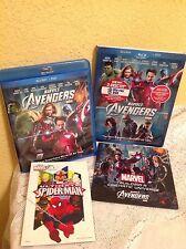 THE AVENGERS BLU-RAY + DVD MARVEL 2012 SUPERHERO ACTION MOVIE (NO DIGITAL) BONUS