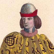 Portrait XIXe Pierre de Giac Premier Chambellan du Roi Charles VII