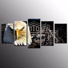 FRAMED Animal Canvas Art Print Poster Eagle Wall Art Painting Giclee Print-5pcs
