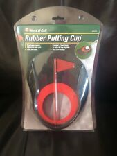 Jef World Of Golf Rubber Putting Cup with Flag (Black/Red) Golf New