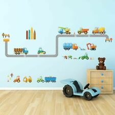 Decowall Cars Transports Vehicles Kids Removable Wall Stickers Decals Dw-1712