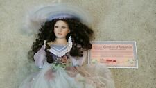 "Cathay Collection Victorian Porcelain Doll 16"" Limited Edition Authentic w Stand"