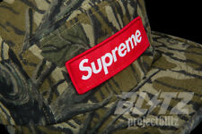SUPREME MILITARY CAMP CAP MOSSY OAK CAMO SS18 2018 HAT RED BOX LOGO OLIVE GREEN
