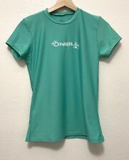 O'Neill, Girls Short Sleeve Blue and White Swim or Surf Shirt, Fitted, Small