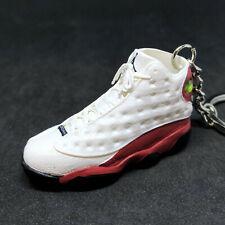 4268cc1d76e Air Jordan XIII 13 Retro Cherry Red White OG Sneaker Shoe 3D Keychain 1:6