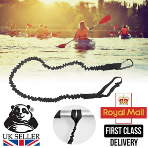 Kayak Canoe Paddle Rod Leash Safety Rope Carabiner Rowing Boats Accessories UK