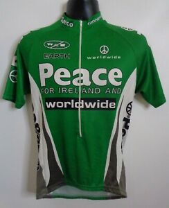 Cannondale Peace for Ireland Cycling Bike Jersey Medium Green White Symbol