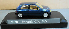 Solido Renault Clio 16S metallic blue  in original case 1:43 die cast model