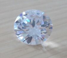 AAAAA Natural White Sapphire Round Faceted Cut VVS Loose Gemstone U Pick Size