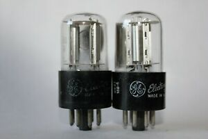 2 x GE 6SL7GT preamp tubes, Tested Good !  (E/F)