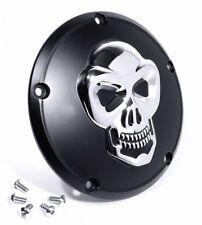 Für Harley Sportster 3D Skull Totenkopf Kupplungsdeckel Derbycover Schwarz