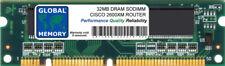 32MB DRAM SODIMM MEMORY RAM FOR CISCO 2600XM SERIES ROUTERS ( MEM2600XM-32D )