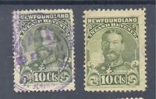 Bengphil Canada Revenue pair NFR17 perf.12 + NFR17a perf.11 fiscal stamps