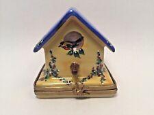 Limoges Box ~ Beautiful Bird House ~ Rochard ~ Sl ~ Peint Main France Rare