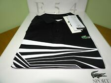 LACOSTE MENS SPORT GRAPHIC POLO SHIRT FR 2/3/4 XS/S/M rrp:£115