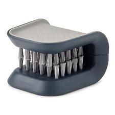 Joseph Joseph BladeBrush Safe Knife & Cutlery Cleaning Brush w/ Hand Grip - Grey