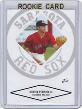 LP~RC~DUSTIN PEDROIA 2004 Justifiable ROOKIE CARD~04~WORLD SERIES~MVP~ROY~AS~BOS