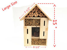 LARGE BAMBOO SOLITARY NATIVE BEE ,LADYBIRDS AND LACEWING INSECT HOTEL-Brand New