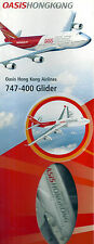 OASIS HONG KONG AIRLINES 747-400 GLIDER LENGTH 275mm WING SPAN 280mm BOX NEW t66