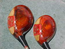 AMF Voit Refinished Golf Clubs Rh Set Driver & 3 Wood w Original Fine Line Grips