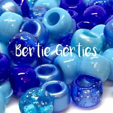*3 FOR 2* Blue Mix - Glitter Opaque Pearl - Pony Beads, Dummy Clips