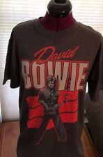 NEW NWT DAVID BOWIE RED SAX 50% COTTON/POLY MEDIUM GRAY T-Shirt ZIGGY STARDUST