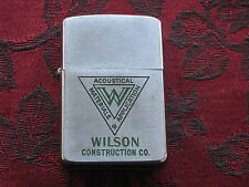 Zippo Lighter 1957 Advertising Wilson Construction Acoustical Materials