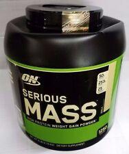 Serious Mass weight gainer Optimum Nutrition ON 6 lb whey protein powder VANILLA