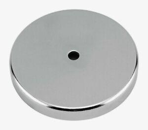 Master Magnetics .44 in. Ceramic ROUND BASE MAGNET Silver 95 lb. Pull 1pk 07223