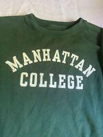 Vintage Manhattan College Crewneck  Sweatshirt New York NYC medium Jansport