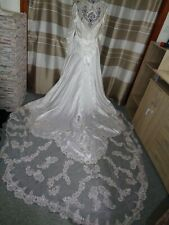 (21)Edles Damen Braut Standesamt Abend Kleid GR: GR: 42