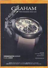 GRAHAM Chronofighter Oversize Black Arrow Watch Print Ad
