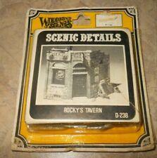 Vintage WOODLAND SCENICS HO/HOn3 scale Rocky's Tavern D-238