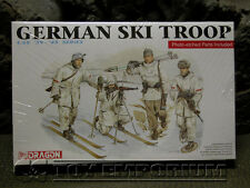 "Dragon Models 1:35 Scale Deluxe WWII ""German Ski Troops"" Model Kit"