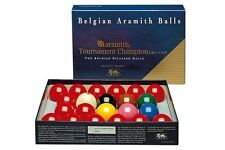 New Belgian Aramith Tournament of Champion Pro Cup Snooker Ball Set 2 1/16 inch