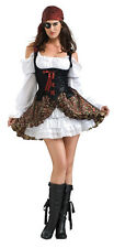 Ladies Pirate Costume BUCCANEER BABE w/ Eye Patch Adult Small Medium 6 7 8 9
