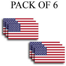 6 USA American Flag Bumper Sticker Yeti Decal Vinyl Window Car Truck Hard Hat 3M