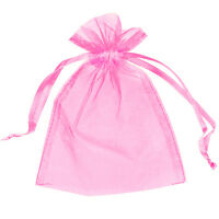 25 Organza Bags Jewellery Storage Pouches Party Mesh Drawstring Gift Making UK