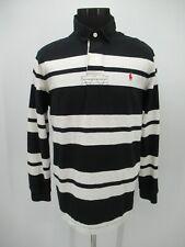 P5521 VTG Men's Polo Ralph Lauren Striped Rugby Polo Shirt Size XL