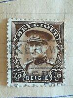 N°298 Timbre Oblitéré avec charnière Albert 1er 1931 Marron BE