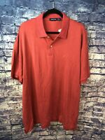 Nautica⛵️Silk & Cotton Red Golf Polo Shirt Size XXL NWT🔥Rare👀Free Shipping✅
