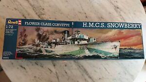 UNGEBAUT - NEU Vintage Revell Bausatz H.M.C.S. SNOWBERRY 1:72 Flower Class 05061