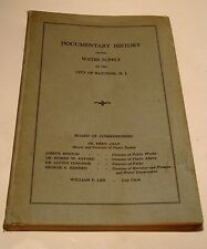 1927 Documentary History of the Water Supply of Bayonne NJ-Utility-Historical