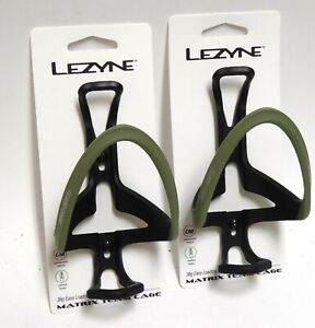 Lezyne Matrix Team Cage Red, Army Green