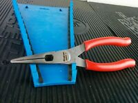"""#af761 NEW 2019 Snap-On  8"""" RED Talon Grip Long Nose Pliers w/ Cutter 196ACF"""