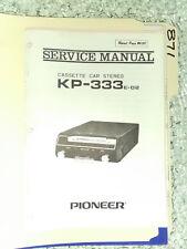 Pioneer kp-333 service manual original repair book stereo car radio tape deck