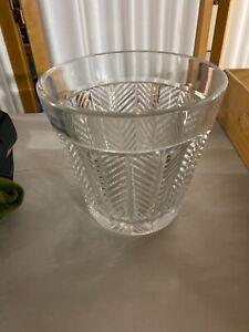 "Ralph Lauren Crystal Herringbone 6 1/4"" Flared Ice Bucket - Gorgeous"