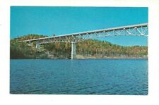 SUMMERSVILLE LAKE, BRIDGE NEAR SUMMERSVILLE, WEST VIRGINIA CHROME POSTCARD