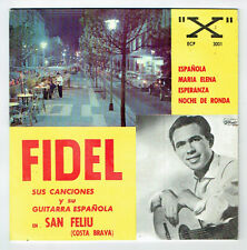 """FIDEL Disque 45T 7"""" EP GUITARE ESPAGNOLE -SAN FELIU Costa Brava X ECP 3001 RARE"""