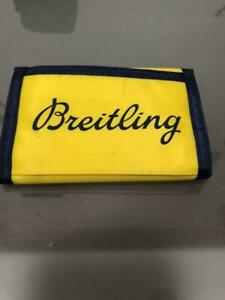 Breitling Men's Nylon Trifold Wallet Yellow Not sold in stores New